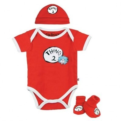 Dr Seuss Baby Boys Thing 2 Layette Set Dr Seuss Baby