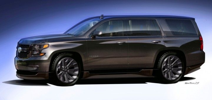 2015 Tahoe Black concept. I'd probably tear the ground ...