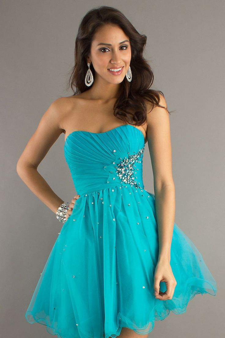 2013 Homcoming Dresses A Line Strapless Short/Mini With Beadingwork