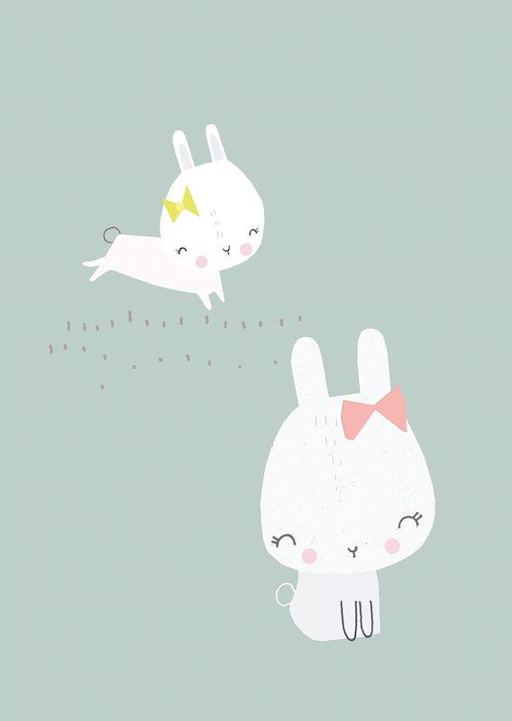 Vicky Riley 'Ansichtkaart Bunnies'