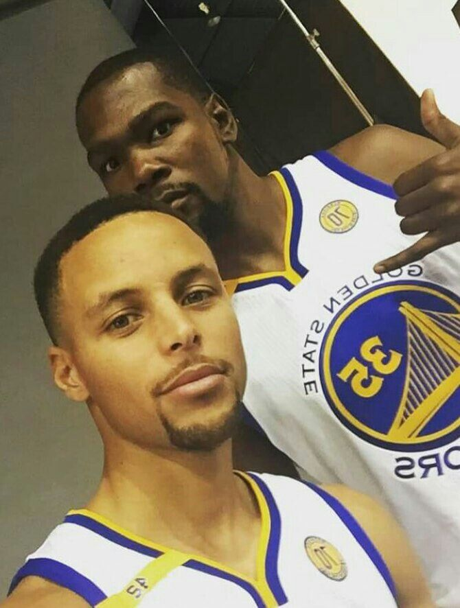 Stephen Curry and Kevin Durant #2016MediaDay                                                                                                                                                                                 More