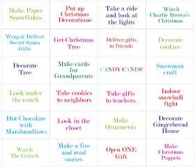 Christmas ideas bingo