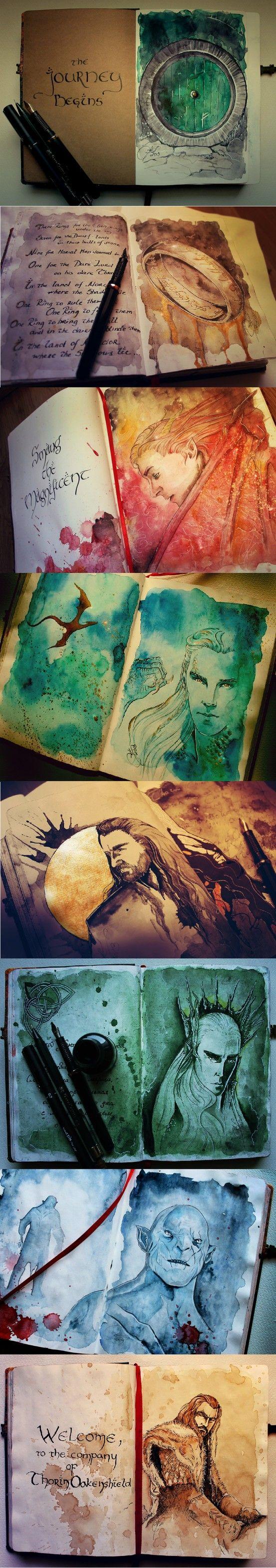 Hobbit artwork O Benedict caraterizado: ai meu deus, que lindo ♥-♥