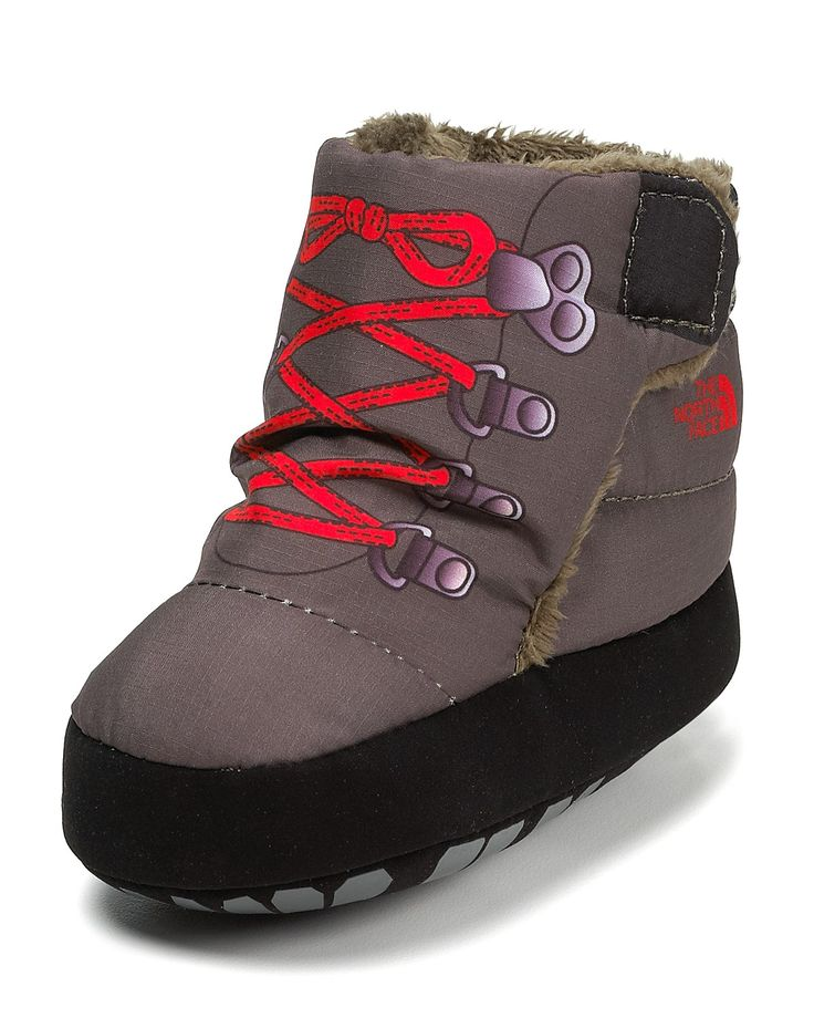 north face baby hiking booties - wish they had these for toddler boy slippers :)