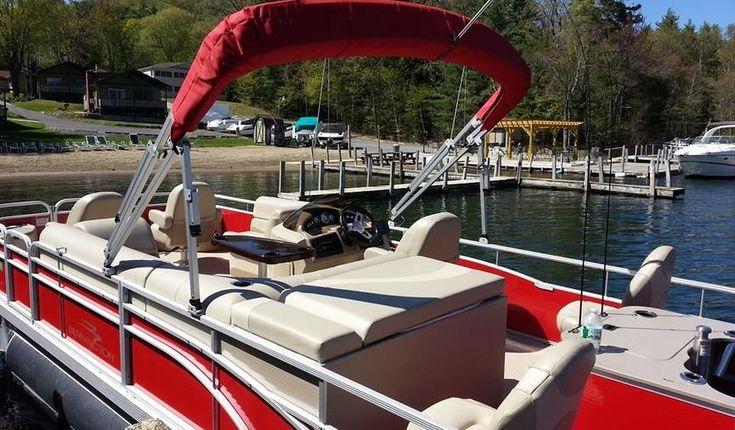 Lake pontoon boats lake tubing and family