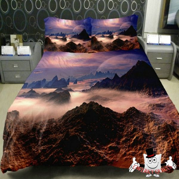 Beautiful Mountain Galaxy Bedding  Bedding Set and Quilt Cover Buy Here: http://www.qwerkyquilts.com/collections/unique-galaxy-quilt-cover-bedding-sets/products/beautiful-mountain-galaxy-bedding-set-and-quilt-cover