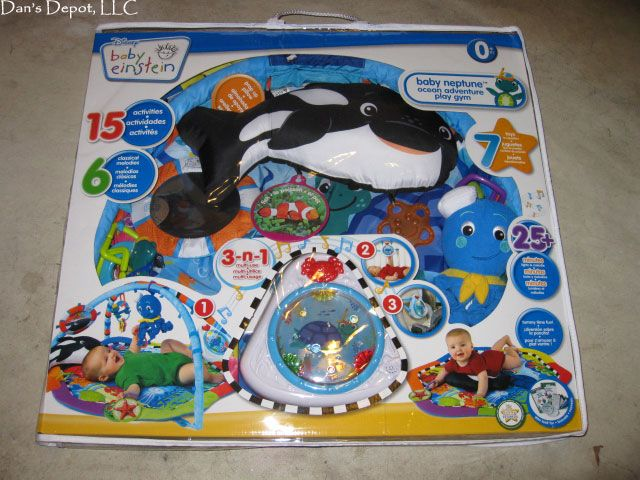 Baby Einstein activity mats | New Baby Einstein Neptune Ocean Adventure Activity Play Mat Gym | eBay i am wishing and hoping and thinking and wondering and praying that I got a baby einstein baby gifts and a neptunes ocean activity mat and baby gift baskets for xmas