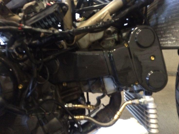 #Ducati #996 #carbon #belt #cover #gold #titanium #new #oilcooler