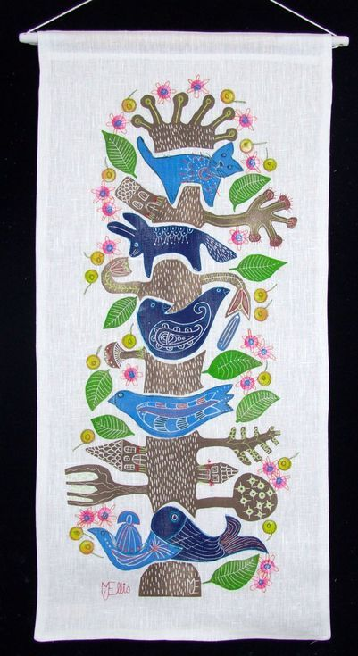 Buy Tree of Life, XL linocut on linen with embroidery, Linocut by Mariann Johansen-Ellis on Artfinder. Discover thousands of other original paintings, prints, sculptures and photography from independent artists.