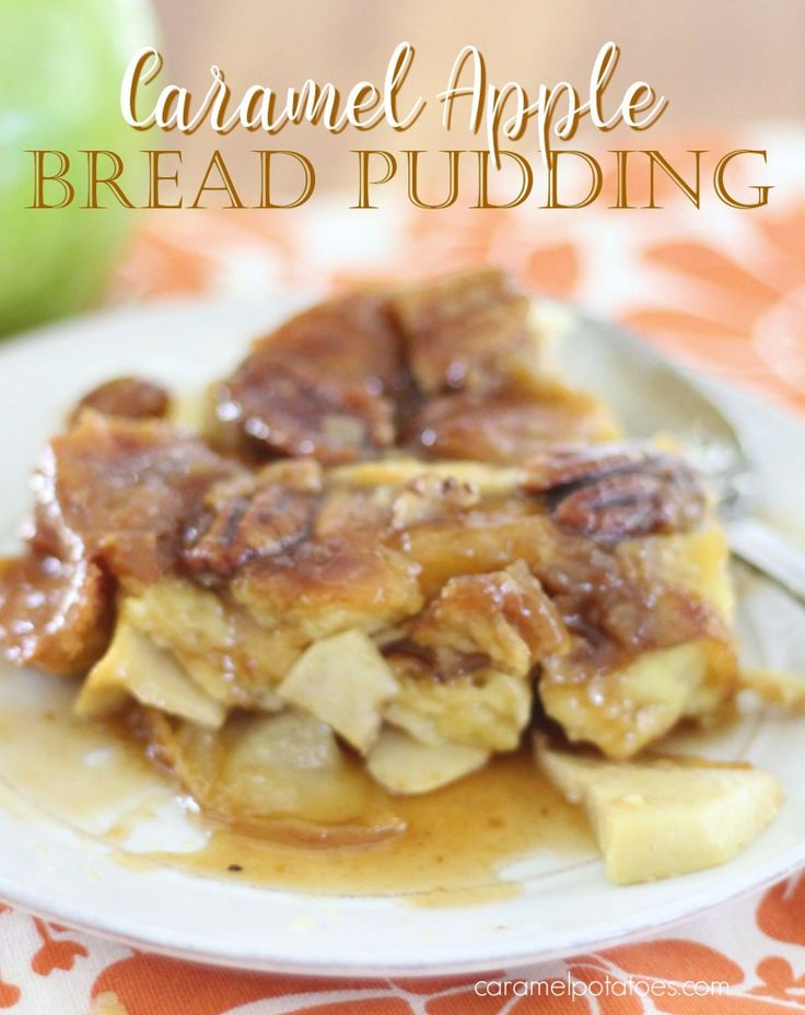 Bread Pudding has always been a favorite of mine.  This Caramel Apple Version is the best of all worlds.  Fresh sliced apples are added to the mix which creates its own hot and bubbly carame…