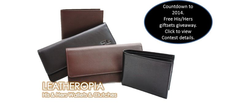 Enter the Countdown to 2014 contest! Every Wednesday and Friday starting from Dec 9, Leatheropia will giveaway a free His/Hers gift set.  Visit www.leatheropia.com for more details.