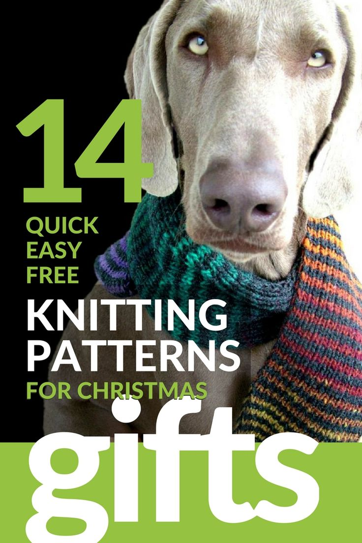 14 Quick, Easy & Free Last Minute Christmas Gift Knitting ...
