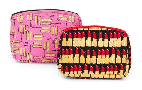 Filigree Double Zip Pouches designed by @sewsweetness. Features Bouffants & Broken Hearts by Bouffants & Broken Hearts.