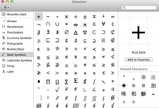 How to Type Common Symbols, Special Characters, in Mac OS X.  Have you ever wondered how to type some of those special characters that don't seem to appear anywhere on the Mac keyboard?
