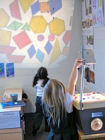 Explorar con las figuras geométricas, la luz y el color