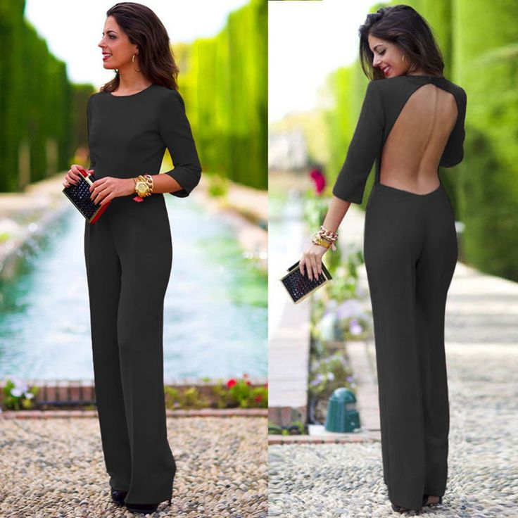 When you are going to take a meet,you need a serious clothes,this suit perfectly saitisfied it.3/4 sleeves and backless desigen make you look sexy and elegant.Long brief Slim show your slim figure,whi