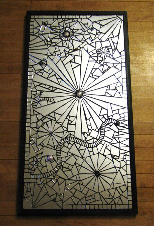 Arbitrary Reflection by Anne Marie Price Mirror and beads mosaic.   Anne Marie Price  www.ampriceart.com #mirror #mosaic #art #AMP #AnneMariePrice