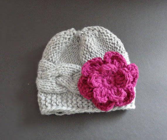 Knit Baby Hat  Baby girl Hat  Newborn Hat Baby Hat girl hat