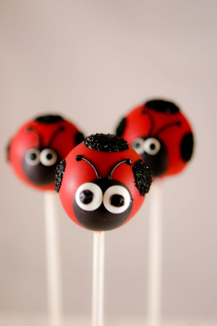 ladybugs cake pops - Google…