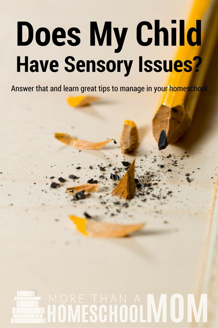 Does my child have sensory issues? Homeschooling with sensory issues can be difficult but it doesn't have to. Check out these sensory issue homeschool tips.