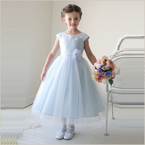 Thalia Flower Girl Dress in Light Blue from Demigella