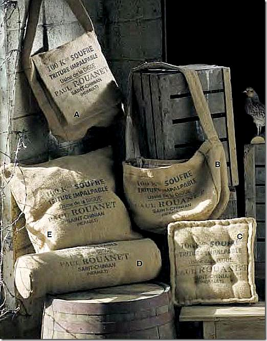 These burlap coffee bags can be transformed into such beautiful pieces with a little bit of creativity. It's also amazing how cheaply you can buy them online.  They go for as little as $1 a piece...