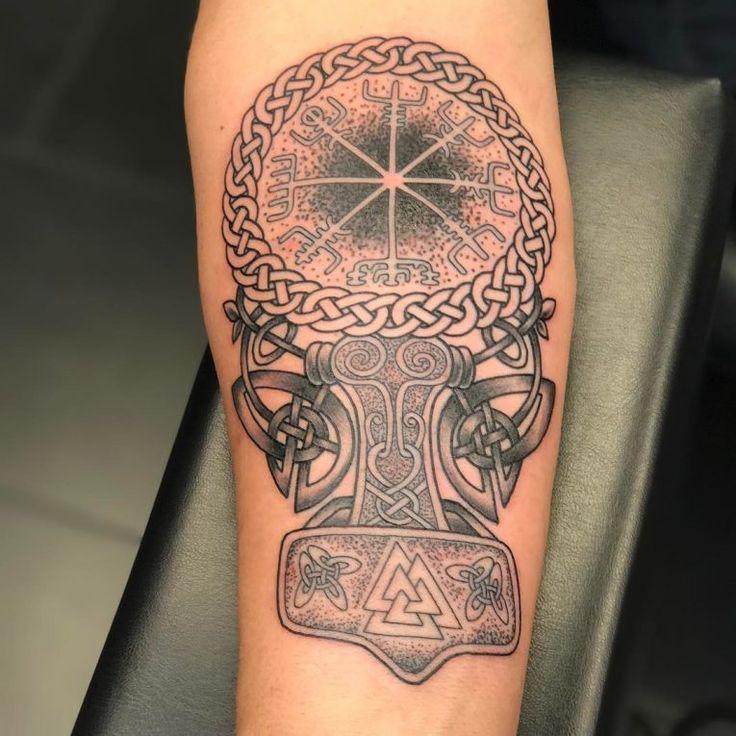 Best 25+ Viking Compass Tattoo Ideas On Pinterest