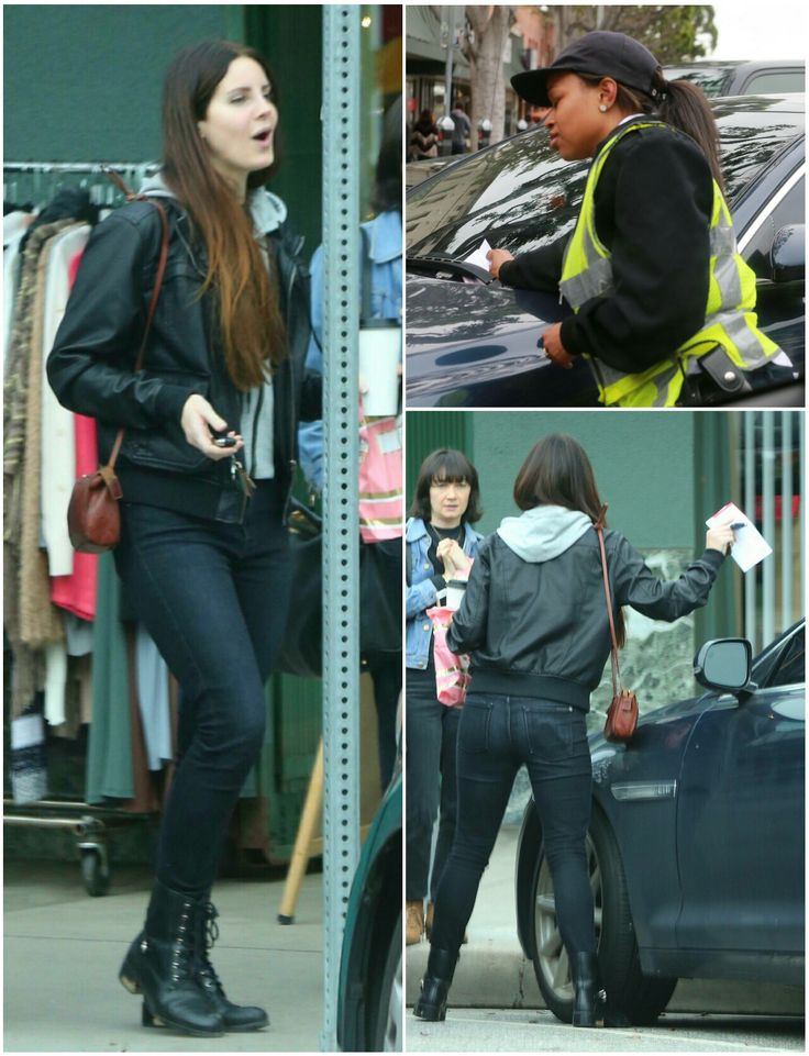 Lana Del Rey getting a parking ticket in Los Angeles (Feb.21,2017) #LDR lol