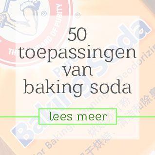 50 toepassingen van baking soda
