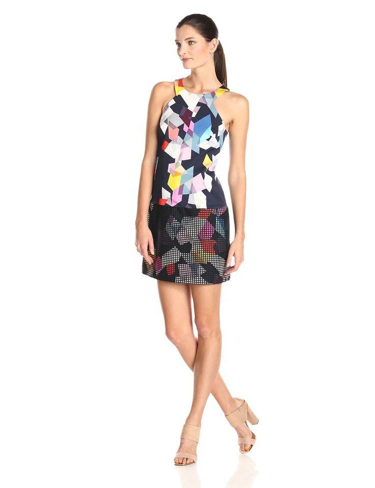 Aptos Confetti Print Faille Shift Dress by Trina Turk