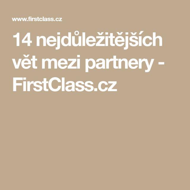 14 nejdůležitějších vět mezi partnery - FirstClass.cz