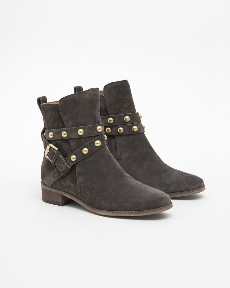 See by Chloe Janis Studded Suede Ankle Boot