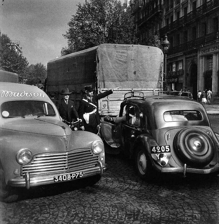 Robert Doisneau  //  ,Boulevard St Denis Paris, 1951. #topphotographers