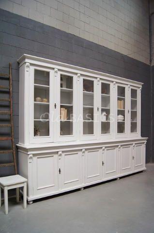 Enorm grote oude unieke vitrinekast winkelkast in for Grote spiegels te koop