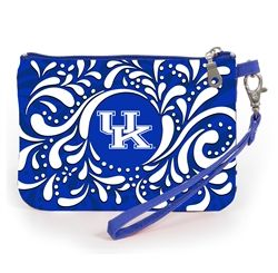Stadium Approved University of Kentucky wristlet. Our adorable wristlet is a must have gameday accessory. Keep your cell phone handy and your ID visible as you breeze through the security gate to cheer on your team! Fits iphone 5,6 and 7. #gamedayready #shopdesden
