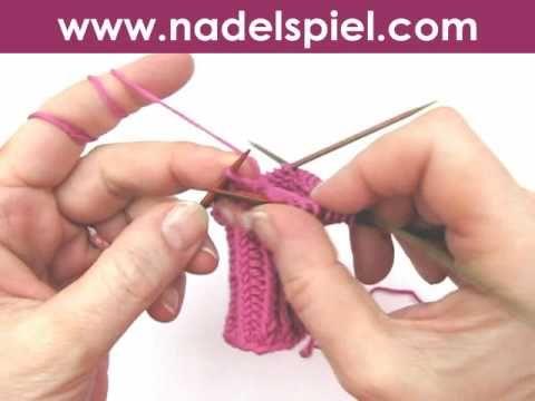 ▶ Handschuhe stricken * Teil 1 * Daumenkeil für Fäustlinge, Handschuhe, Handstulpen, Pulswärmer - YouTube