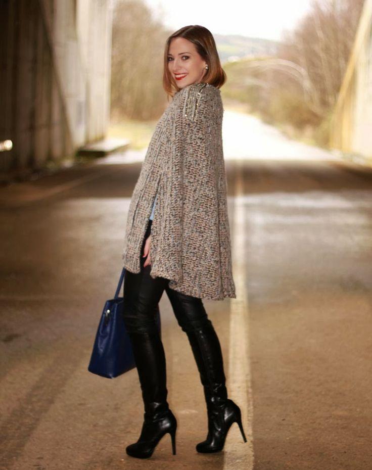 Blusa azul cruzada | Looks and shoes