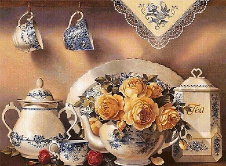 Предпросмотр схемы вышивки «žlté ruže»