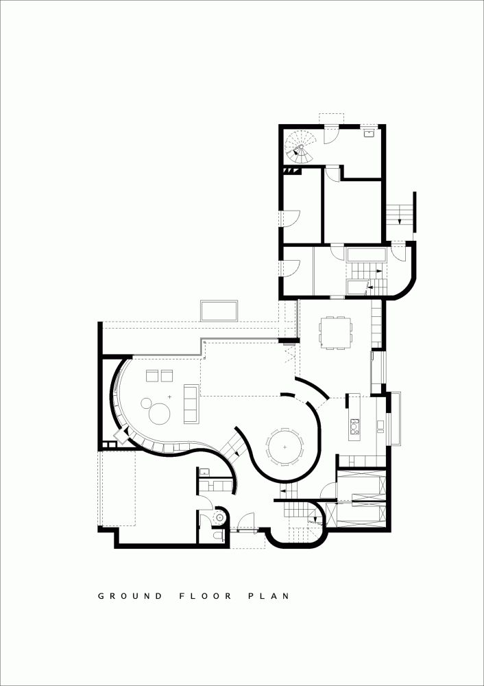 271 best architectural drawings images on pinterest for Small residential building plan