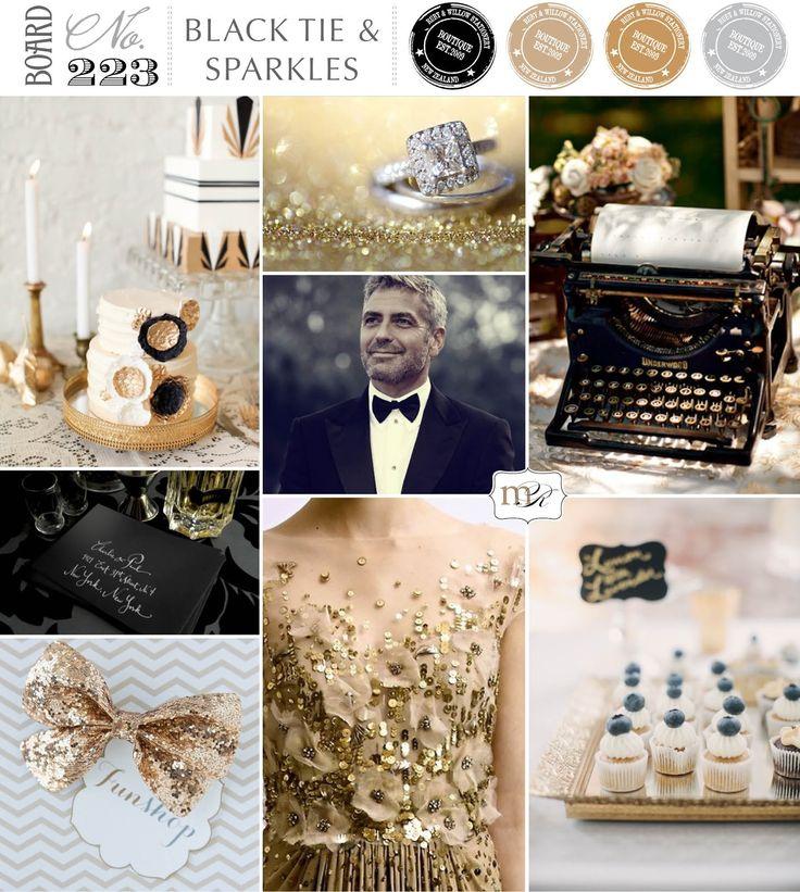 Magnolia Rouge: Board#223: Black Tie  Sparkles