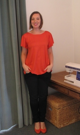 Simple to sew jersey top, make this in less than 15 mins.