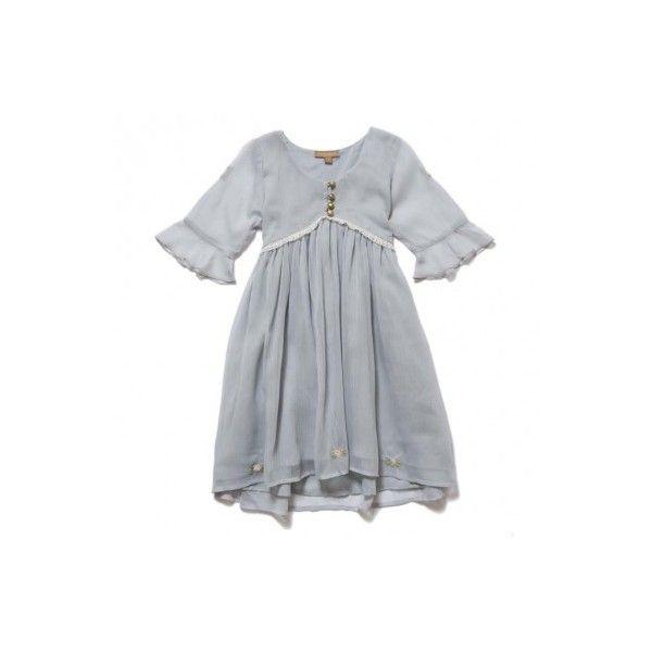 Grey Tea Dress (£38) ❤ liked on Polyvore featuring dresses, vestidos, gray dress, tea dress, tea party dresses and grey dress