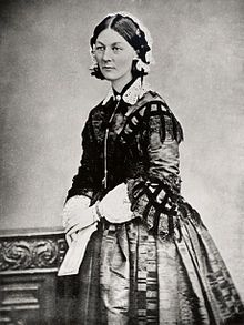 """Florence Nightingale (12May1820 – 13Aug1910) was an English social reformer, statistician and the founder of modern nursing. She served as a manager of nurses trained by her during the Crimean War. She gave nursing a highly favorable reputation & became a Victorian culture icon, especially as """"The Lady with the Lamp"""" making rounds of wounded soldiers at night. Some of her work included advocating for better health care, better hunger relief & regulating harsh prostitution laws for women."""