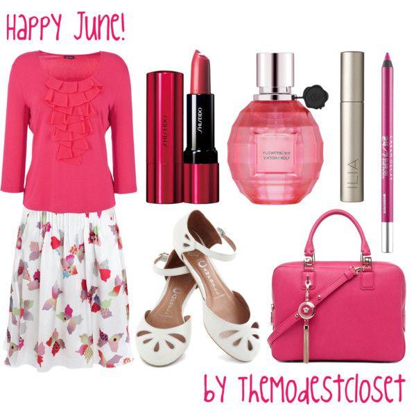 Happy June! - The Modest Closet. Slightly longer skirt for me.