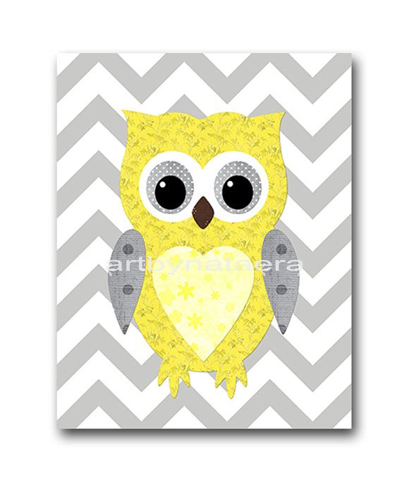 Kids wall art owl nursery owl decor baby nursery decor for Baby owl decoration