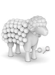 Stuck on Ewe Sheep Desktop Push Pin Set