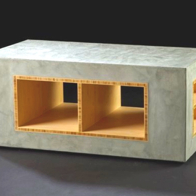 Concrete table like the mix of the concrete and wood cool concrete items pinterest the o Concrete and wood furniture