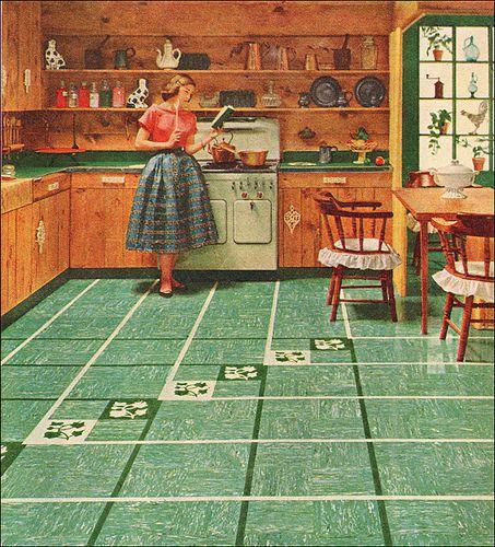 91 best kay flooring images on pinterest for 1950s kitchen floor