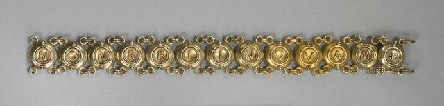 Fortunato Pio Castellani & Sons, Bracelet (ca. 1870), via Artsy.net