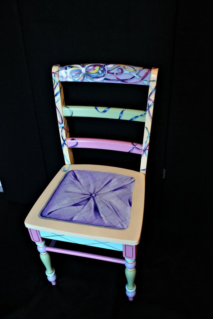 Hand painted trompe l'oeil chair. $299.00, via Etsy.